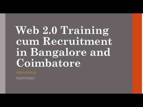 Web 2 0 Training cum Recruitment in Bangalore and Coimbatore-etcoe.in