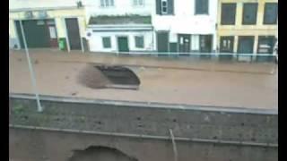 Mau tempo Madeira - queda da estrada 31 de Janeiro