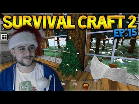 SurvivalCraft 2 - LEARNING THE BASICS ABOUT ELECTRICS! WE BUILT A CHRISTMAS TREE! Let's Play (15)