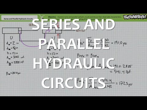 Series And Parallel Hydraulic Circuits Part 1 Of 3