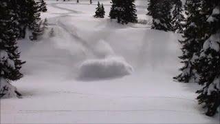 snowmobile deep powder