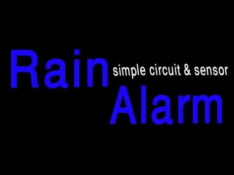 How to make a rain alarm sensor or simple circuit. - YouTube