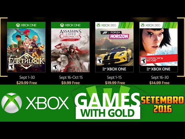 Jogos GrÁtis Xbox Live Gold De Setembro 2016 (xbox 360 / Xbox One)