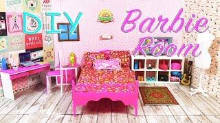 Barbie DIY chambre de poupée  Tuto créatif de jouets pour enfants