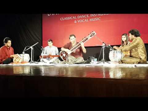 A WONDERFUL CONCERT by Sitar Maestro Pandit Prateek Chaudhuri : Raag Shyam Kalyan ( 9 beats cycle )