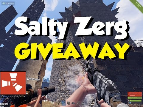 Giving a Salty Zerg's LOOT to the Server | RUST