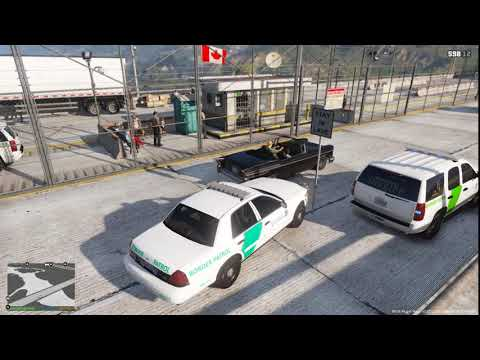 Gta 5 (LSPDFR) Border Patrol Checkpoint DHS Day 1