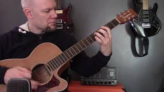 Black Metal On Acoustic Guitar - Dissection - Maha Kali Cover