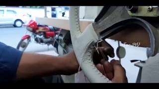 Steering wheel cover installation   DIY   Steering Wheel Cover Stitching   Genuine leather   Tamil4U
