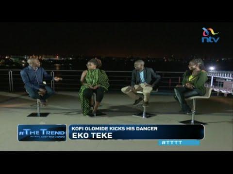 #TTTT: Koffi Olomide caught on camera kicking his female dancer, then denies it