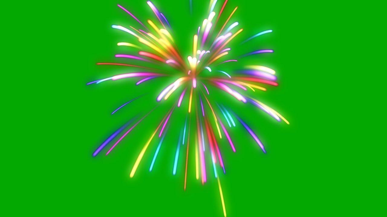 fireworks colour - green / black screen effect