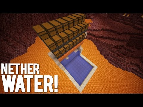 Minecraft: Water In The Nether Using Redstone