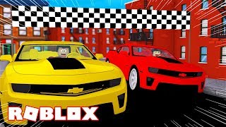 WE BET RACES WITH CARS ON ROBLOX!