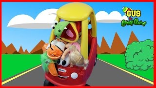 Outdoor Playground Fun with Gus Driving Little Tikes Cozy Coupe