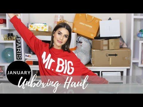 JANUARY 2018 UNBOXING HAUL