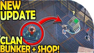 NEW UPDATE - NEW CLAN BUNKER BASE + SHOP! - Prey Day Survival Gameplay