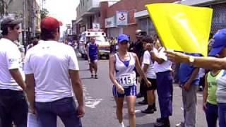 Llegada de la 115 Karina Dueñas a la meta
