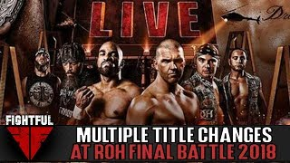 Two Big Title Changes, Top Contender At ROH Final Battle | Fightful Wrestling