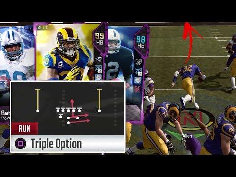 OMG Triple OPTION Only! Three 99 Speed Running Backs - Madden 19 Gameplay