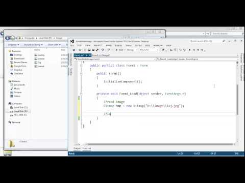Visual Studio | How to read and write image in C#