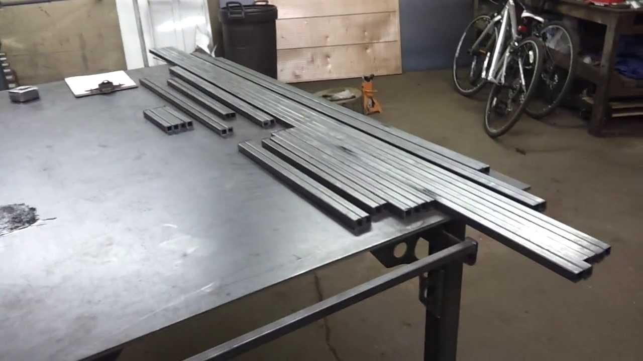 Custom Metal Work Bench Shop Storage Part 2 Youtube
