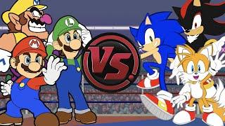 MARIO vs SONIC: CARTOON RAP WAR! (Super Mario vs Sonic The Hedgehog Rap Battle)   CARTOON RAP ATTACK