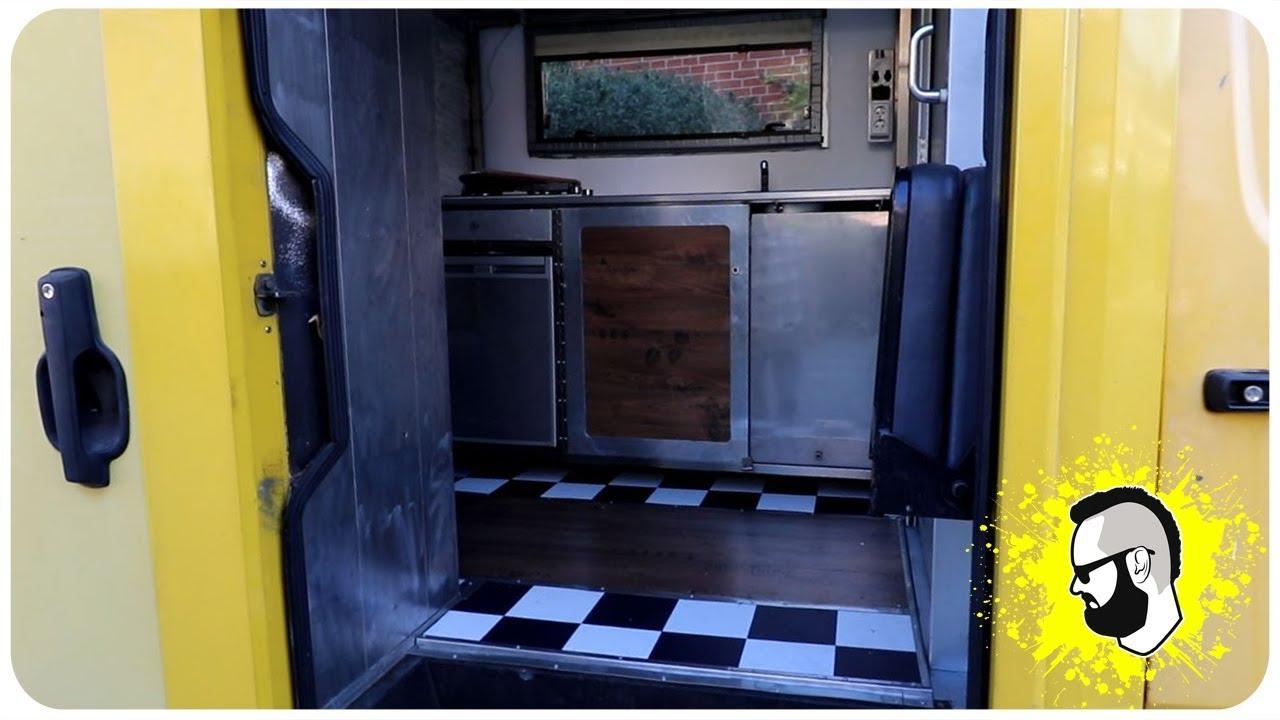 wohnmobil selber bauen aus einem postkoffer youtube. Black Bedroom Furniture Sets. Home Design Ideas