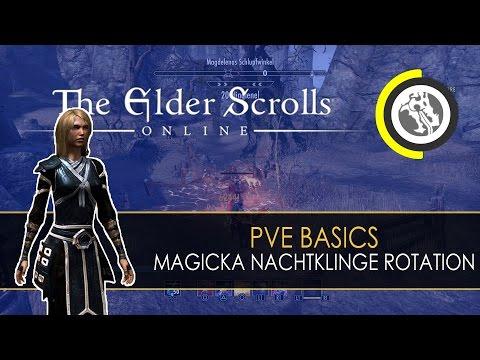 ESO - PvE Basics: Magicka Nachtklinge Skill-Rotation - Самые