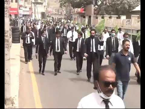 Khi Lawyer Rally, Karachi Bar Council Rally for Tajdar Khatme nabwat