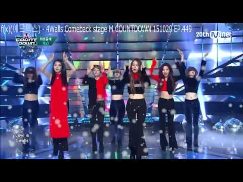 fx에프엑스   4Walls Comeback stage M COUNTDOWN 151029 EP.449
