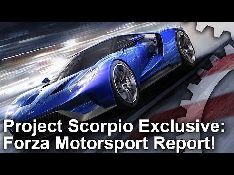 Студия Turn 10 рассказала об адаптации ForzaTech под Project Scorpio и о первом прототипе приставки
