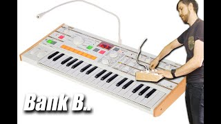 The NEW microKORG S - ALL 64 sounds previewed of Bank B