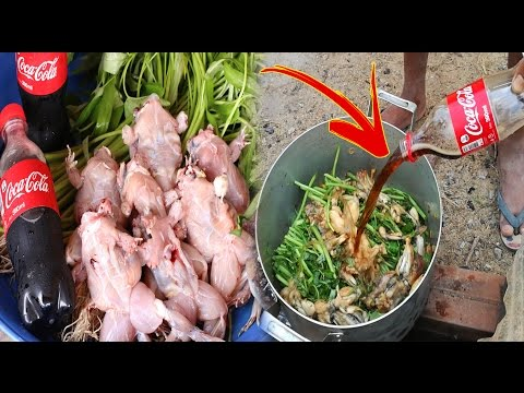 WOW!! Amazing Two Children Cook Frog With Coca Cola For Lunch  How To Cook Frog In Cambodia