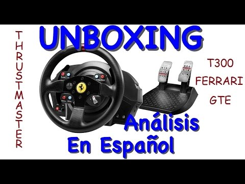 unboxing thrustmaster t300 ferrari gte an lisis en. Black Bedroom Furniture Sets. Home Design Ideas