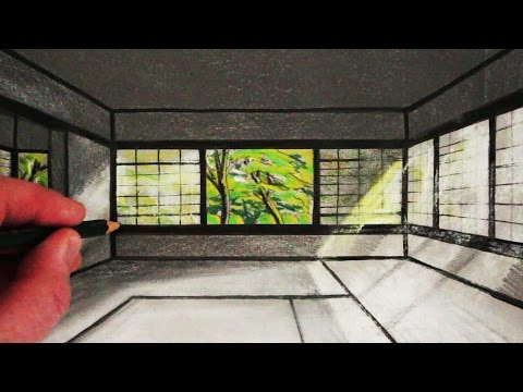 How to Draw a Japanese Room in 1-Point Perspective