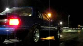 Mustang wheelstand all 4 tires off of ground
