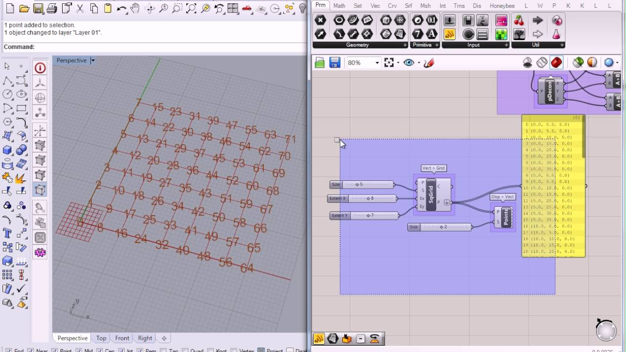 07 grasshopper list structure of points youtube