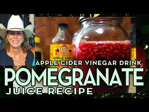 Pomegranate Juice Recipe Apple Cider Vinegar Drink
