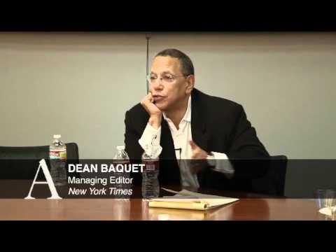 Journalism Director's Forum - Dean Baquet