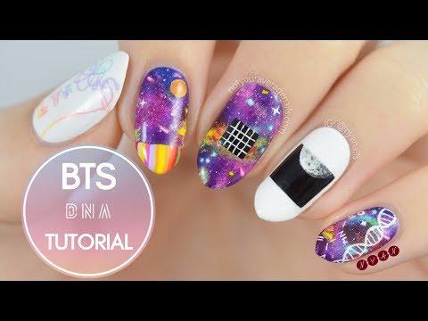 """BTS """"DNA"""" Nail Art Tutorial"""