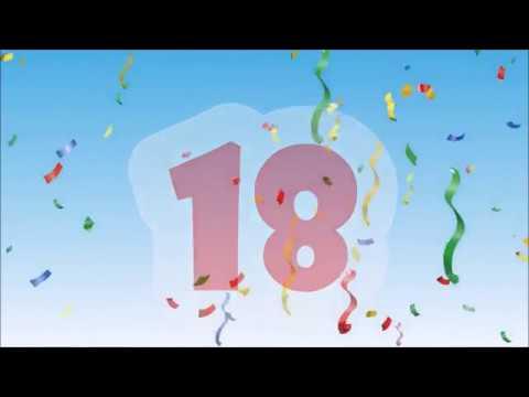 Herzlichen Gluckwunsch Zum Geburtstag 18 Jahre Youtube