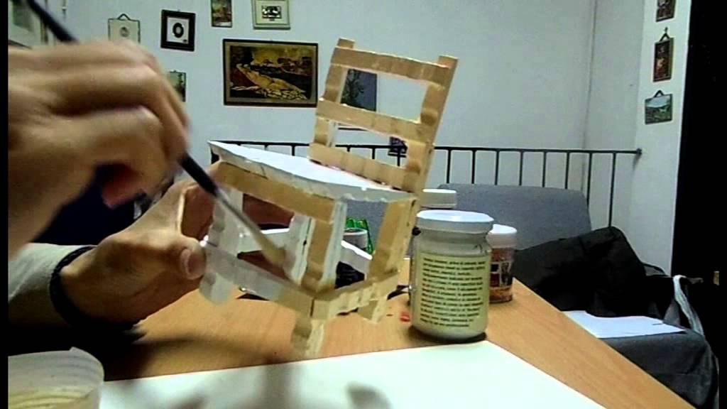 sedia con mollette 3 parte - YouTube