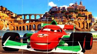 Тачки Маквин Супер Гонки собираем кубики пазлы для детей с героями мультика Молния Маквин