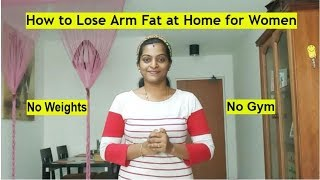 Weight loss Journey in Tamil - 4 Simple Effective Arm Workouts at Home for Women #NoEquipment #NoGym