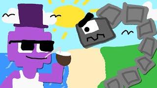 Zombey macht Urlaub und wird von Steinmonstern angegriffen.