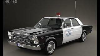 3D Model Ford Galaxie 500 Police 1966 at 3DExport.com