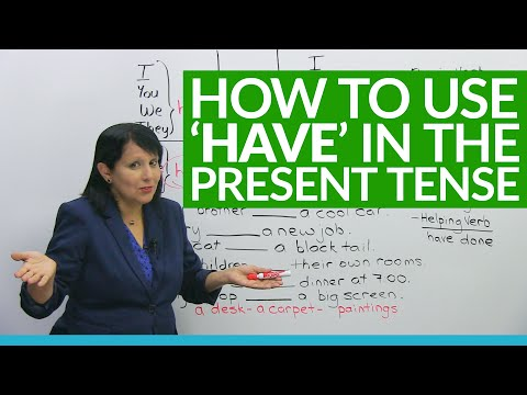 "Learn English Grammar: ""to have"" in the present tense"