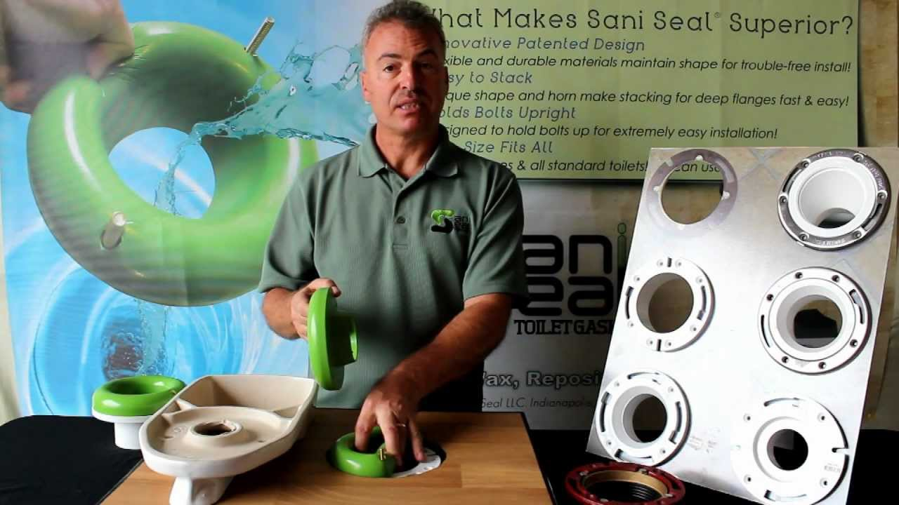 Sani Seal Toilet Gasket Flexible Waxless Seal Universal