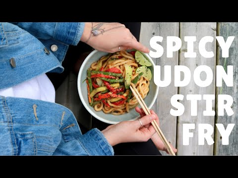 Spicy Udon Noodles | Vegan & EASY