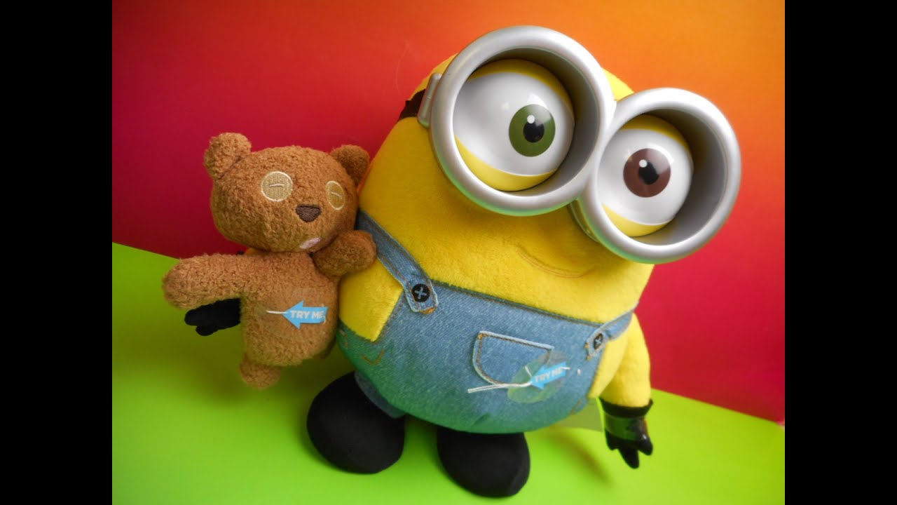 MINIONS MOVIE EXCLUSIVE BOB WITH TEDDY BEAR ELECTRONIC TOY VIDEO REVIEW    YouTube